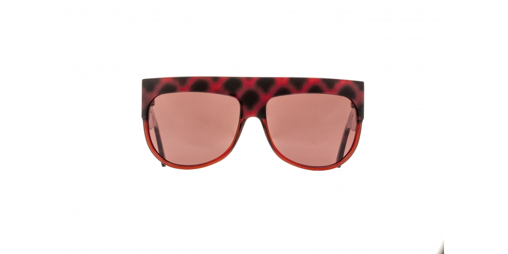 D-FRAME SUNGLASSES IN RED TURTLE COLOUR ACETATE