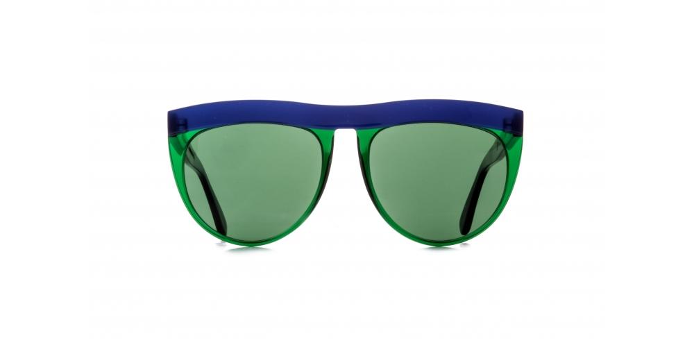 TEARDROP AVIATOR SUNGLASSES IN BLUE-GREEN COLOUR ACETATE